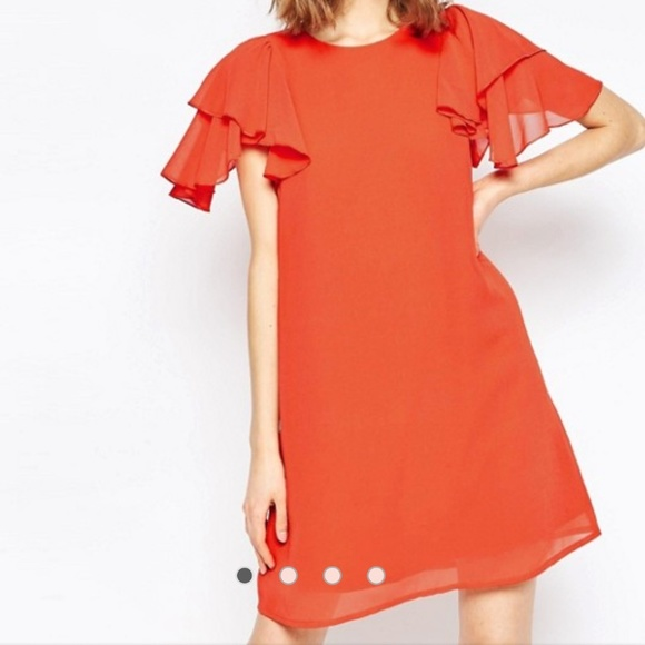 ASOS Dresses & Skirts - Asos flutter sleeve shift dress